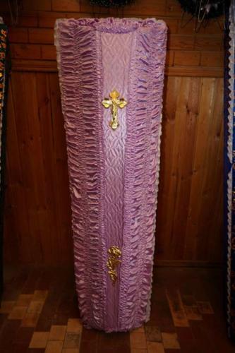 Гроб обитый тканью №3