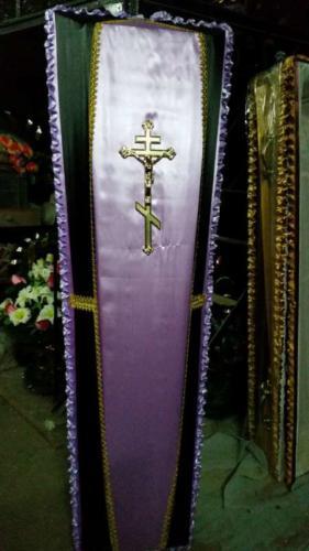 Гроб обитый тканью №5